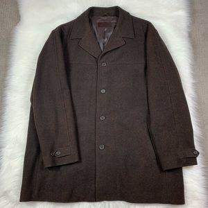 Alfani mens brown wool pea coat XXL (EUC)